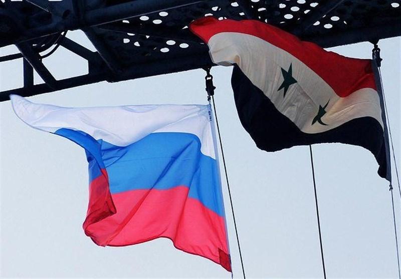 پرچم روسیه و سوریه