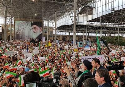 استقبال مردم شیراز از حجت الاسلام رئیسی