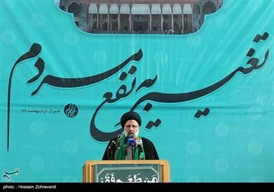 زیارة المرشح الرئاسی ابراهیم رئیسی لمدینة شیراز
