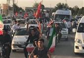 ترافیک شدید از فرودگاه اصفهان تا میدان امام(ره)/ماشین رئیسی در ترافیک شدید ماند!/ اسکورت مردمی ماشین رئیسی با 300 خودرو و موتورسیکلت+عکس