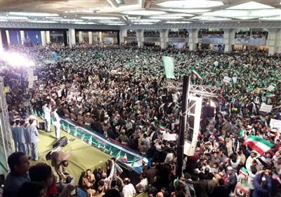 سیل جمعیت مردمی در اجتماع بزرگ تهرانیهای حامی حجت الاسلام رئیسی در مصلا