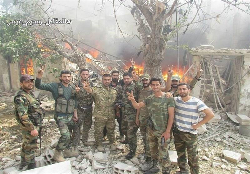 الجیش السوری یعلن حی القابون شرق دمشق محررا بالکامل+صور