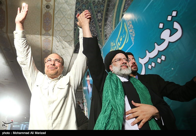 أکثر من 300 الف شخص یجتمعون فی طهران دعما للمرشح ابراهیم رئیسی+صور
