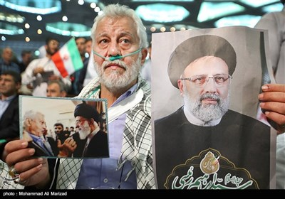 المرشح رئیسی بین مئات الآلاف من أنصاره فی طهران (2)