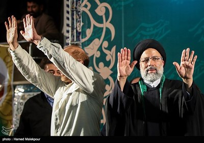 Presidential Candidate Raisi Addresses Mass Gathering of His Supporters in Tehran