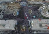باران رحمت الهی در میدان شهدای مشهد آغاز شد