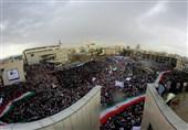 """خیابانهای اطراف میدان شهدای مشهد به صورت کامل """"قفل"""" شد"""