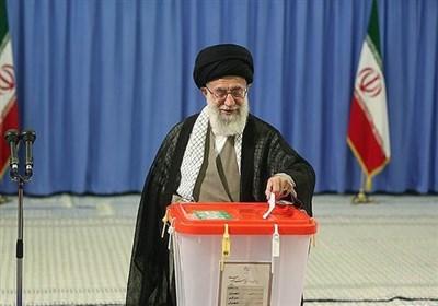 پیام مقام معظم رهبری پس از به صندوق انداختن رای
