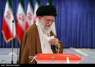 Ayatollah Khamenei Casts Vote in Iran's Elections