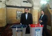 محسن رضایی رای خود را به صندوق انداخت + عکس