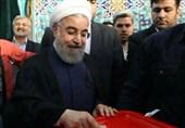 المرشح الرئاسی روحانی یدلی بصوته