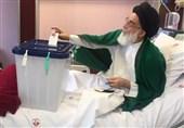 آیتالله هاشمی شاهرودی رای خود را به صندوق انداخت + عکس