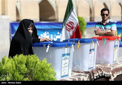 People Hit Polls in Isfahan to Pick Next President
