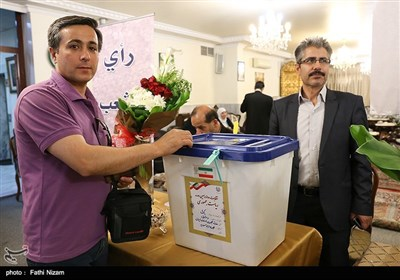 Nationals in Syria Voting in Iran's Presidential Election