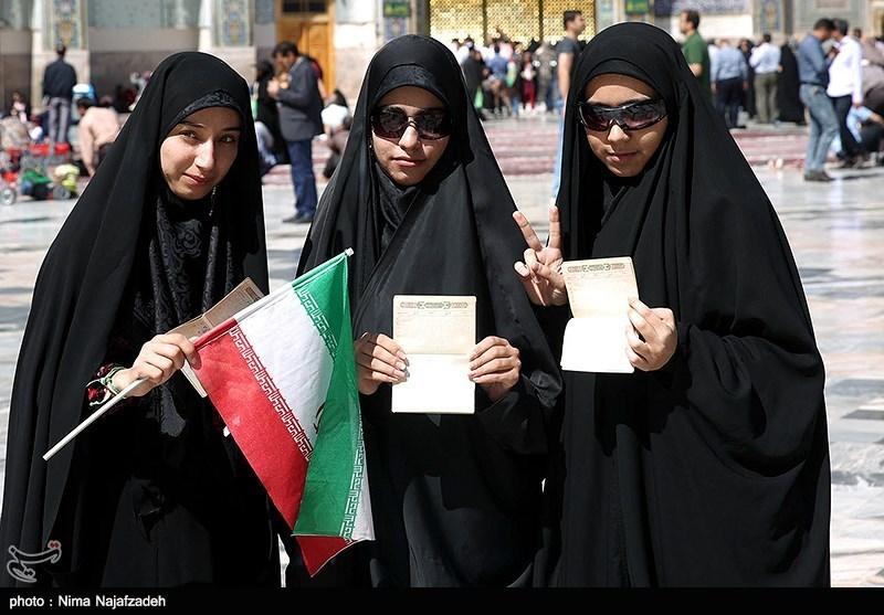 People In Iran S Mashhad Vote In Presidential Election