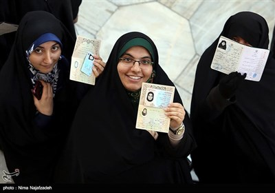 People in Iran's Mashhad Vote in Presidential Election