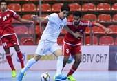 شکست تیم فوتسال زیر 20 سال ایران مقابل روسیه