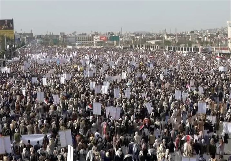 Thousands of Yemenis Rally in Sana'a to Denounce Saudi Aggression