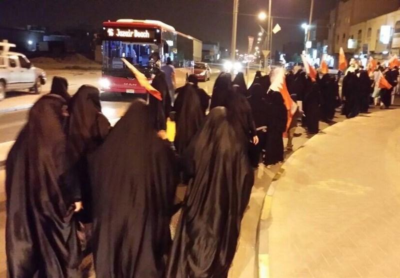 تظاهرات شبانه بحرینیها در آستانه قرائت حکم آیتالله قاسم + تصاویر