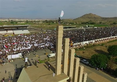 "حشد ملیونی فی صنعاء تحت شعار ""لا للإرهاب الأمریکی"""