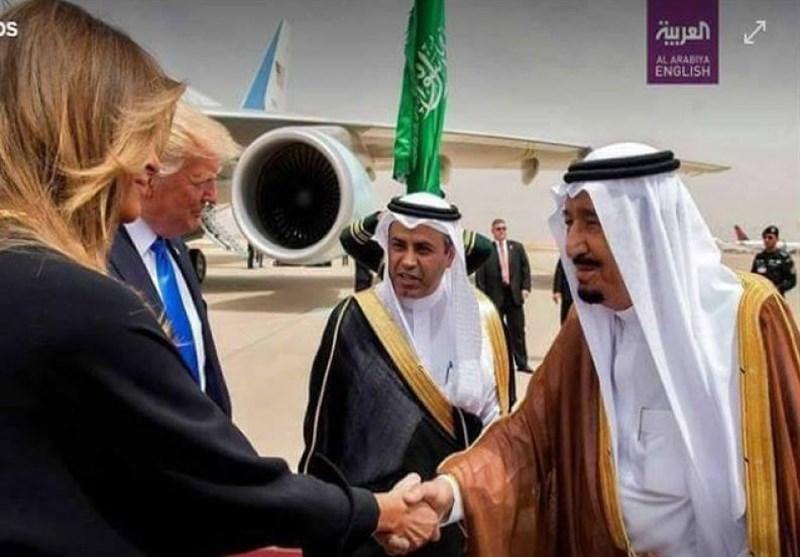 شاه سلمان و زن ترامپ!
