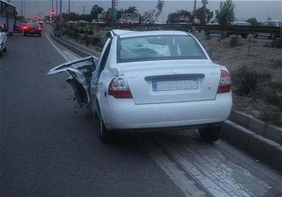 تصادف تیبا با کامیون