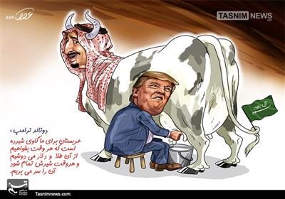 کاریکاتور/ عربستان شیرندهد سرش بریده میشود