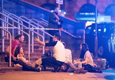 لحظه انفجار در منچستر انگلیس