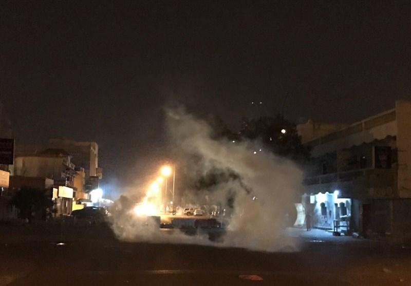 تصاویر/ تظاهرات شبانه بحرینیها در حمایت از آیتالله شیخ عیسی قاسم