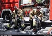آتشسوزی در هتل آپادانای تهران