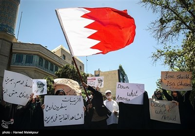 تہران میں شیخ عیسیٰ قاسم کی حمایت میں مظاہرہ