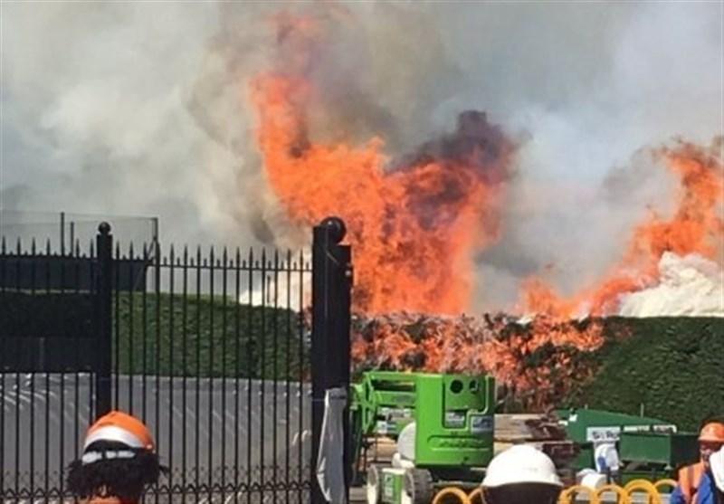 آتشسوزی در یک باشگاه تنیس و کریکت+عکس