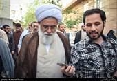 حجت الاسلام رشاد در مراسم تشییع پیکر مرحوم آیت الله حاج شیخ حسن پهلوانی تهرانی