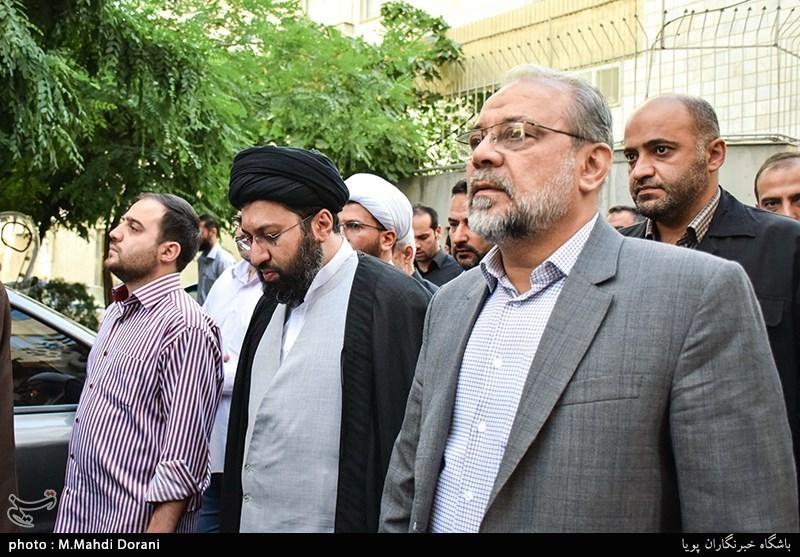 سردار ذوالقدر در مراسم تشییع پیکر مرحوم آیت الله حاج شیخ حسن پهلوانی تهرانی