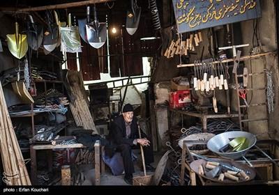 نمایی از بازار آهنگران شهر کرمانشاه