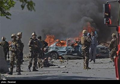 انفجار المنطقة الدبلوماسیة فی کابول