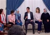 الأسد وعقیلته یستقبلون 34 مخطوفا محررا+صور