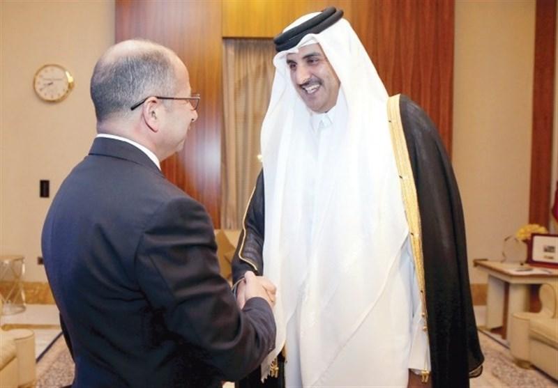 أمیر قطر یؤکد للجبوری حرصه على اقامة علاقات ممیزة مع العراق
