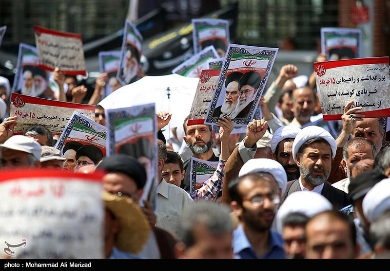 حضور پرشور مردم در روز قدس دشمنان را وادار به عقبنشینی میکند/ تشکیل زنجیره انسانی علیه سند 2030 در قزوین