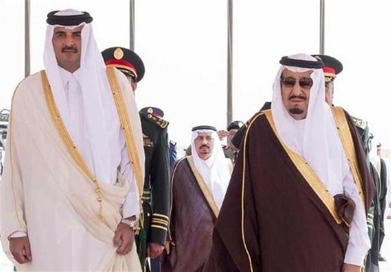 امیر قطر پادشاه سعودی
