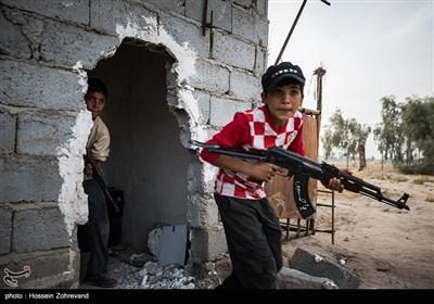 تدریبات اطفال مقاتلی الحشد الشعبی