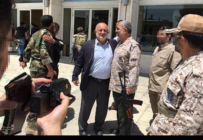 تصاویر درگیری سپاه با تروریست ها در مجلس