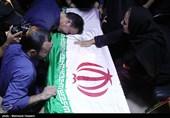 وداع با پیکر مطهر شهدای حملات تروریستی تهران در معراج شهدا +عکس و فیلم