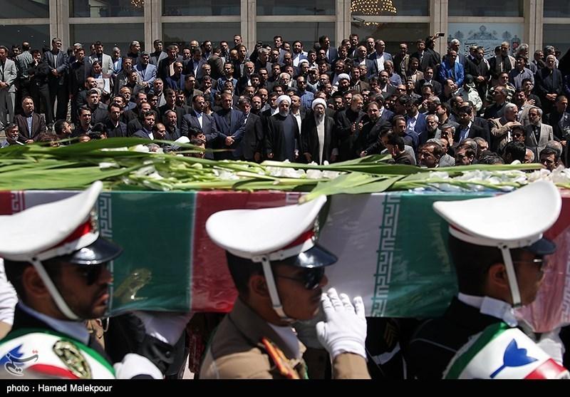 مراسم وداع با پیکر شهدای ترور در مجلس