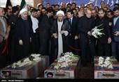مراسم تشییع شهدای حادثه تروریستی با حضور سران قوا برگزار شد + تصاویر