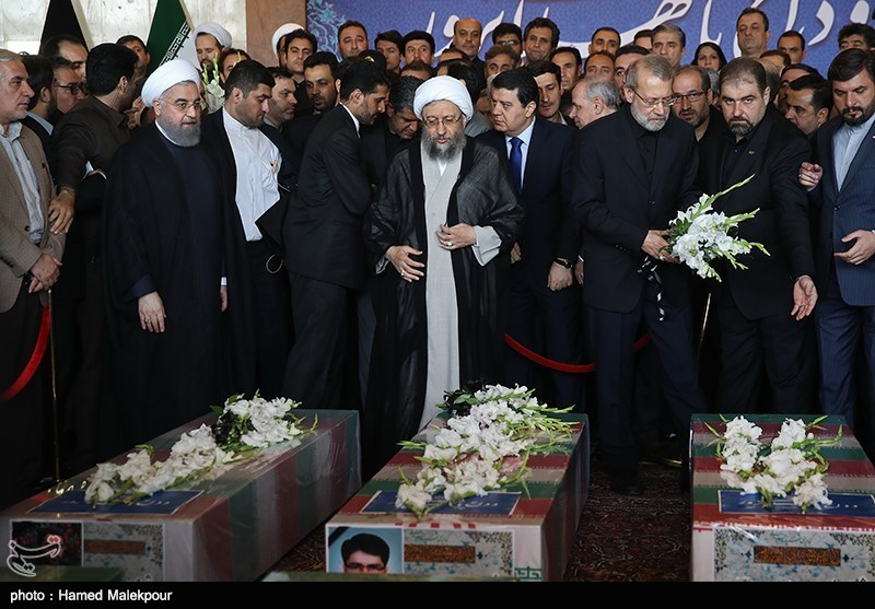 Thousands mourn Tehran victims as officials lambast US, Saudi