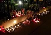 ادای احترام شهروندان اتریشی به شهدای حادثه تروریستی تهران+عکسوفیلم