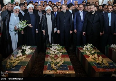 Iran's Top Officials Attend Funeral Ceremony for Martyrs of Tehran Attacks