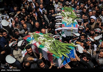Large Crowd of People Attend Funeral Ceremony for Tehran Terrorist Attacks' Victims
