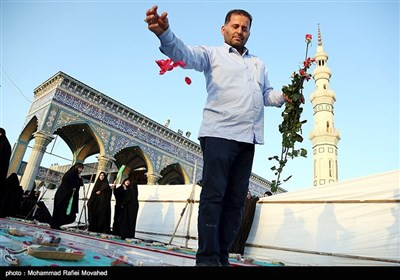 افطار بمناسبة ذکرى میلاد الإمام الحسن بن علی (ع) .. مسجد جمکران
